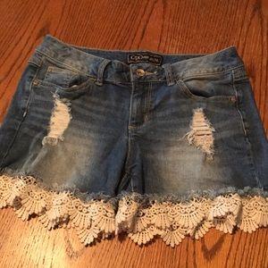 Cato Premium Distressed Jean Shorts, size 8
